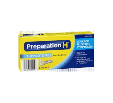 Image 2 du produit Preparation-H - Preparation-H suppositoires, 12's