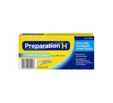 Preparation-H suppositoires, 12's – Preparation-H