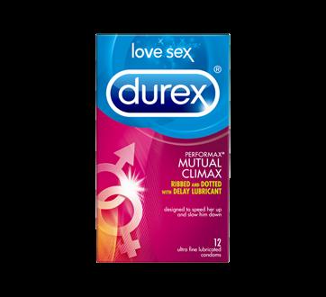 Image 1 du produit Durex - Condoms Durex Orgasme Mutuel nervurés, microperlés et enrobés de gel retardant, 12 unités