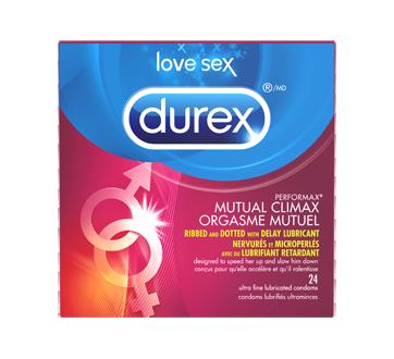 Image 1 du produit Durex - Condoms Durex Orgasme Mutuel nervurés, microperlés et enrobés de gel retardant, 24 unités