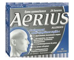 Image du produit Aerius - Aerius allergies comprimés de desloratadine 5 mg, 10 unités