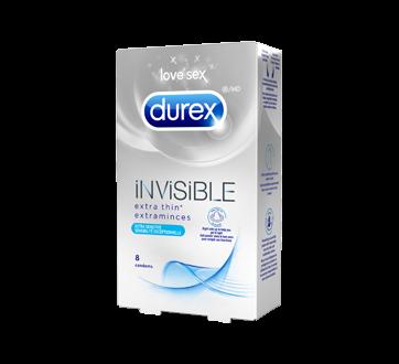 Image 3 du produit Durex - Condoms invisible extraminces sensibilité exceptionnelle, 8 unités