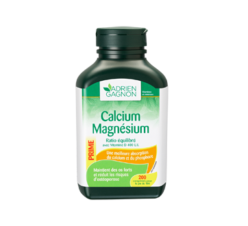 Image du produit Adrien Gagnon - Calcium magnésium ratio équilibré + vitamine D, 200 unités
