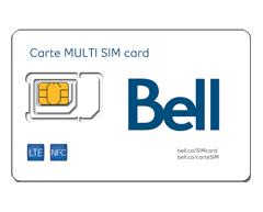 Image du produit Bell - Carte multi SIM NFC
