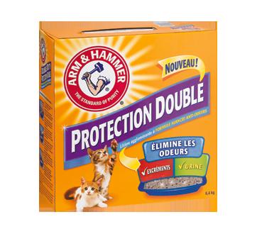 Litière agglomérate pour chat, 6,4 kg, double protection