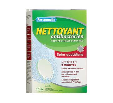 Nettoyant antibactérien pour prothèses dentaires soins quotidiens, 108 unités, menthe