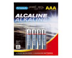 Image du produit Personnelle - Piles alcalines AAA, 4 unités