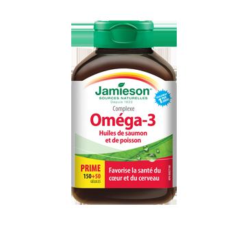 Image du produit Jamieson - Complexe Huile saumon/poisson sauvage 1,000 mg , 150+50 unités