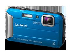 Image du produit Panasonic - Caméra Lumix TS30 résistante à l'eau, bleu