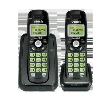 Téléphone sans fil avec deux combinés et afficheur, 1 unité