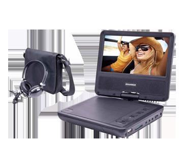 DVD portatif 7 pouces avec écouteurs et étuis, 1 unité