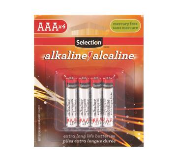 Pile alcaline AAA 1.5V, 4 unités