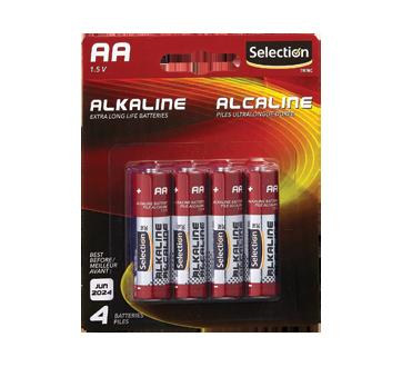 Piles alcalines AA 1,5 V, 4 unités