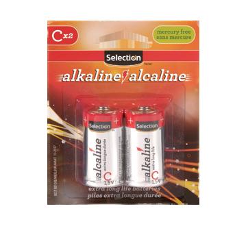 Pile alcaline C 1.5V, 2 unités