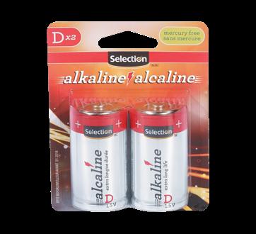 Pile alcaline D 1.5V, 2 unités