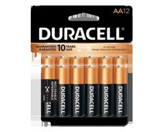 Image du produit Duracell - Piles alcalines AA CopperTop, 12 piles
