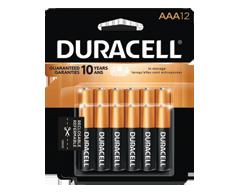 Image du produit Duracell - Piles alcalines AAA CopperTop, 12 piles