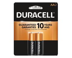 Image du produit Duracell - Piles alcalines AA CopperTop, 2 piles