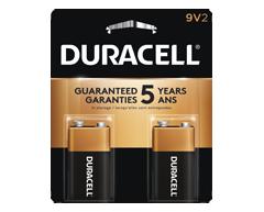 Image du produit Duracell - Piles alcalines 9V CopperTop, 2 piles