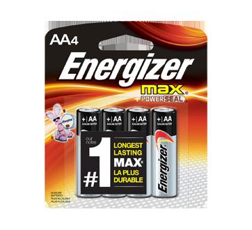 Piles, emballage régulier, max AA-4