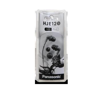 Écouteurs-boutons stéréo ErgoFit à isolation acoustique, 1 unité, noir