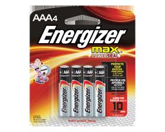 Image du produit Energizer - Piles, emballage multiple, max AAA-4