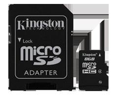 Image du produit Kingston - Carte micro SDHC 8 Go, 1 unité