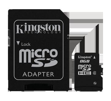 Carte micro SDHC 8 Go, 1 unité