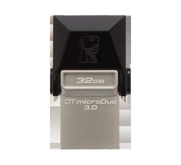 Image 3 du produit Kingston - Clé USB 3.1 + Type C microDuo 32 Go DataTraveler, 1 unité