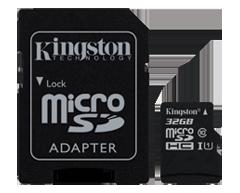 Image du produit Kingston - 32GB microSD High Capacity (microSDHC), 1 unité