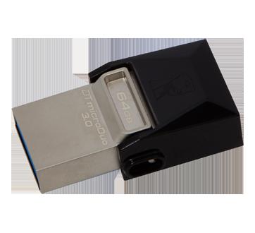 Image 2 du produit Kingston - Clé USB 3.1 + Type C microDuo 64 Go DataTraveler, 1 unité