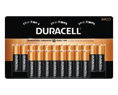 Image du produit Duracell - Piles alcalines AA CopperTop, 20 piles