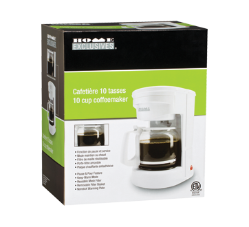 Image du produit Home Exclusives - Cafetière, 10 tasses