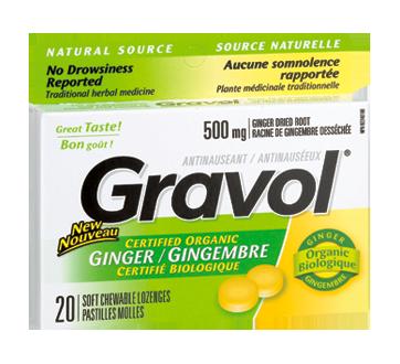 Image du produit Gravol - Pastilles molles, 20 unités, gingembre