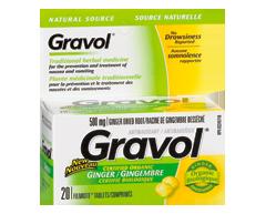 Image du produit Gravol - Source Naturelle comprimés, 20 unités, gingembre