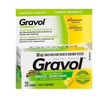 Image 1 du produit Gravol - Source Naturelle comprimés, 20 unités, gingembre