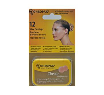 Image du produit Ohropax - Bouchons d'oreille en cire, 12 unités