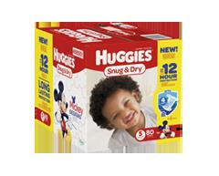 Image du produit Huggies - Snug and Dry couches, 80 unités, taille 5