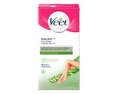 Image du produit Veet - Bandes de cire avec Easy Grip peau sèche, 40 unités