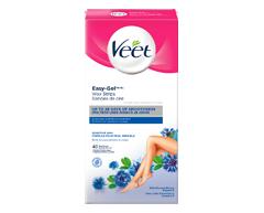Image du produit Veet - Bandes de cire avec Easy Grip formule sensible, 40 unités