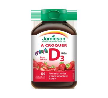 Image du produit Jamieson - Vitamine D 400 ui  pour enfant, fraise, 100 unités