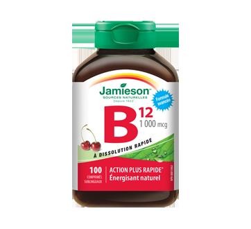 Image du produit Jamieson - Vitamine B12 1 000 mcg comprimés sublinguaux, 100 unités