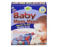 Image du produit Want-Want - Hot-Kid Baby Mum-Mum biscuits de dentition au riz, 50 g, bleuets et goji biologiques
