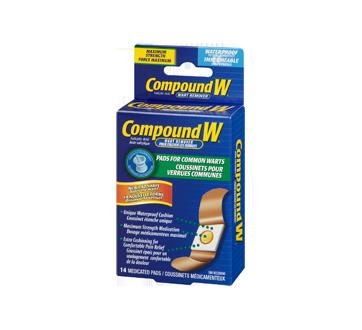 Image 1 du produit Compound W - Compound W coussinets pour verrues communes, 14 unités