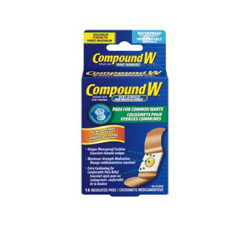Image 3 du produit Compound W - Compound W coussinets pour verrues communes, 14 unités