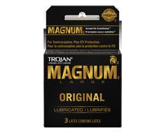 Image du produit Trojan - Magnum condoms lubrifiés, 3 unités