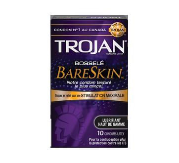 Image 2 du produit Trojan - Bareskin Bosselé condoms lubrifiés, 10 unités