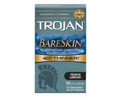 Image du produit Trojan - Bareskin condoms lubrifiés, 10 unités