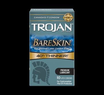 Image 1 du produit Trojan - Bareskin condoms lubrifiés, 10 unités