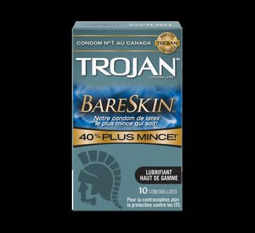 Image 2 du produit Trojan - Bareskin condoms lubrifiés, 10 unités